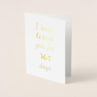 カスタマイズ可能な記念日カード-愛日を数えること 箔カード