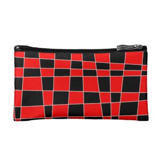 カスタマイズ可能な赤くおよび黒い格子縞 コスメティックバッグ