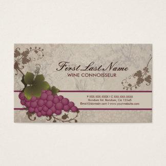カスタマイズ可能な赤ワインのつる植物の名刺 名刺