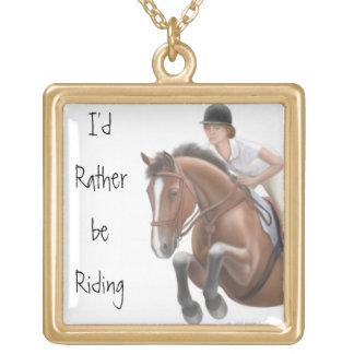 カスタマイズ可能な跳躍の馬のネックレス ゴールドプレートネックレス