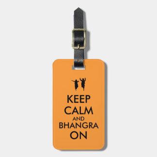カスタマイズ可能な踊ることの平静そしてBhangraを保って下さい ラゲッジタグ