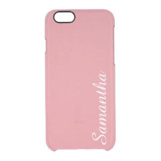 カスタマイズ可能な軽いいちごのピンク クリアiPhone 6/6Sケース