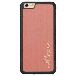 カスタマイズ可能な軽いいちごのピンク CarvedメープルiPhone 6 PLUSバンパーケース