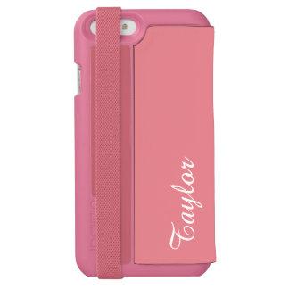 カスタマイズ可能な軽いいちごのピンク INCIPIO WATSON™ iPhone 5 財布型ケース
