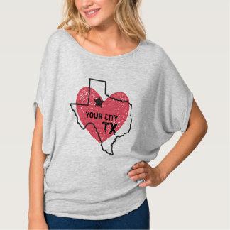 カスタマイズ可能な都市、テキサス州の州のTシャツ Tシャツ