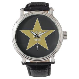カスタマイズ可能な金ゴールドの星 腕時計