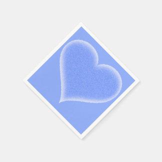 カスタマイズ可能な青く曖昧なハート スタンダードカクテルナプキン