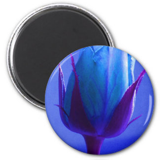 カスタマイズ可能な青のバラの歓喜の磁石- 冷蔵庫マグネット