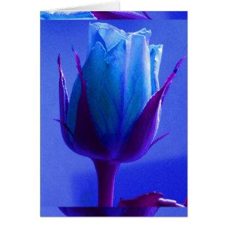 カスタマイズ可能な青のバラの歓喜カードI - グリーティングカード