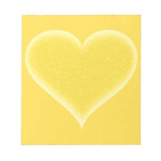 カスタマイズ可能な黄色く曖昧なハート ノートパッド