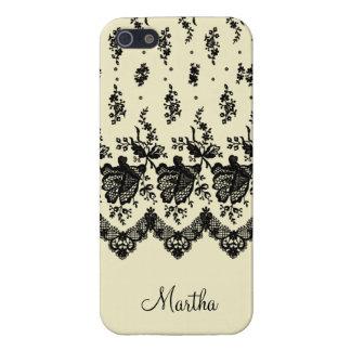カスタマイズ可能な黒のバラのレース iPhone 5 COVER