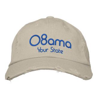 カスタマイズ可能な08amaあなたの州 刺繍入りキャップ