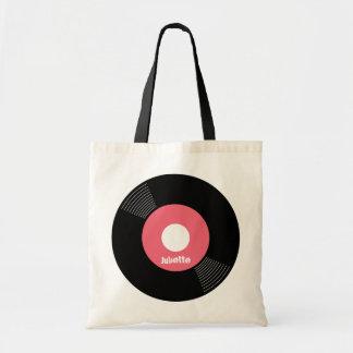 カスタマイズ可能な45s記録的なトート(ピンク) トートバッグ
