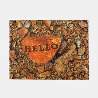 """カスタマイズ可能な""""こんにちは""""石 ドアマット"""