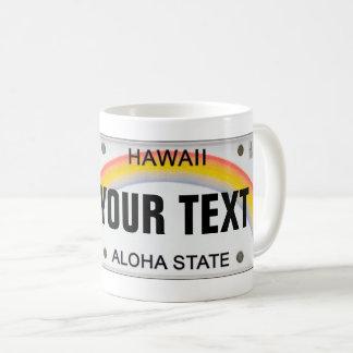 (カスタマイズ可能な)ハワイのナンバープレート コーヒーマグカップ