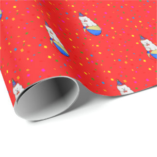 カスタマイズ可能なBichon Friseのギフトの包装紙 ラッピングペーパー