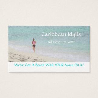 カスタマイズ可能なBUS.CARD/CARIBBEAN BEACH/JOGGER 名刺