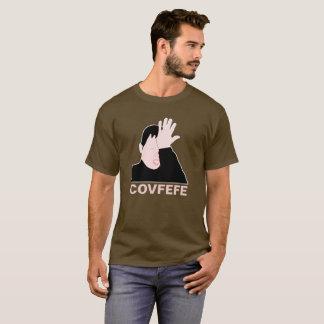 カスタマイズ可能なCovfefeのfacepalmの黒 Tシャツ