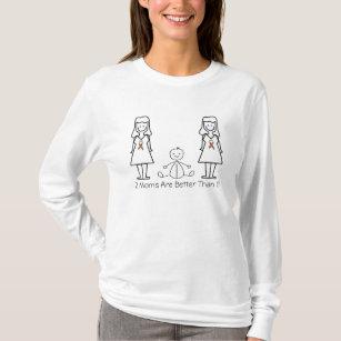 カスタマイズ可能なLGBT 2のお母さん及びベビー Tシャツ