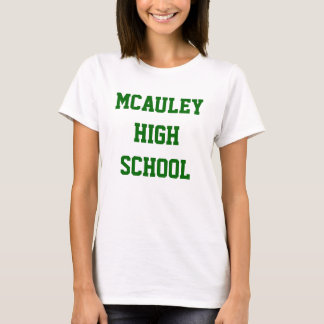 カスタマイズ可能なMcAuleyの高等学校のチームティー Tシャツ