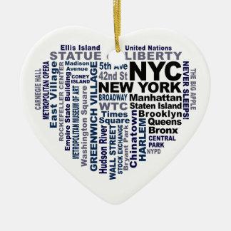 カスタマイズ可能なNYCのオーナメント- セラミックオーナメント