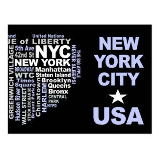 カスタマイズ可能なNYCの郵便はがき- ポストカード