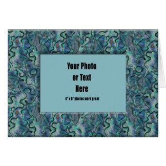 カスタマイズ可能なPauaの貝フレーム- カード