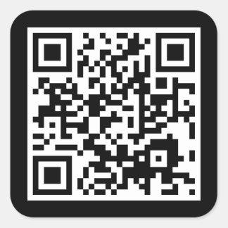 カスタマイズ可能なQRコード スクエアシール