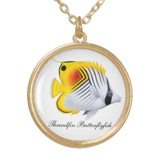 カスタマイズ可能なThreadfinのButterflyfishのネックレス ゴールドプレートネックレス