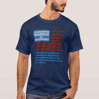 カスタマイズ可能の大統領のためのエリザベスワーレン Tシャツ