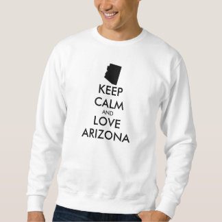 カスタマイズ可能平静および愛アリゾナを保って下さい スウェットシャツ