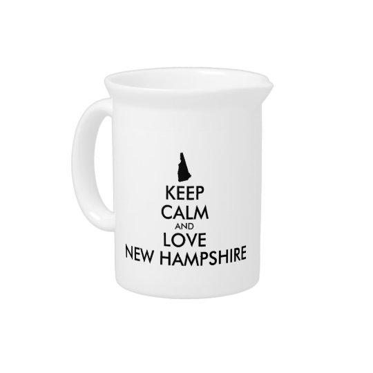 カスタマイズ可能平静および愛ニューハンプシャーを保って下さい 飲み物ピッチャー