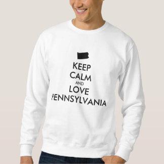 カスタマイズ可能平静および愛ペンシルバニアを保って下さい スウェットシャツ