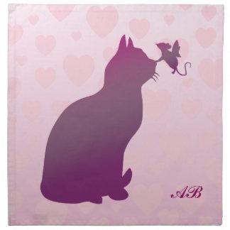 カスタマイズ可能:  子猫および妖精のマウス ナプキンクロス