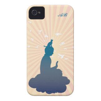 カスタマイズ可能: 雲の仏そして子猫 Case-Mate iPhone 4 ケース