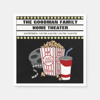 カスタマイズ名前入りな実家の映画館 スタンダードカクテルナプキン
