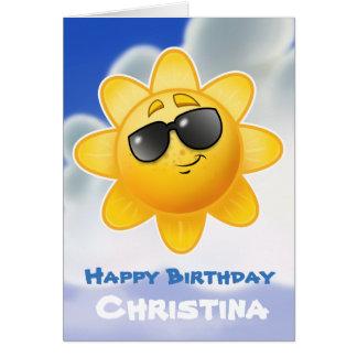 カスタマイズ子供の誕生日の漫画カード カード