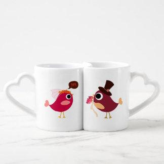 カスタマイズ愛鳥の新郎新婦のペアカップ ペアカップ