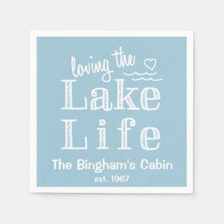 カスタマイズ湖の生命を愛します スタンダードカクテルナプキン