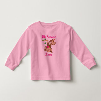 カスタマイズ男の子、女の子は大きいいとこをまねます トドラーTシャツ