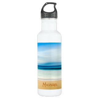カスタマイズ砂浜の青空の地平線をリラックスします ウォーターボトル