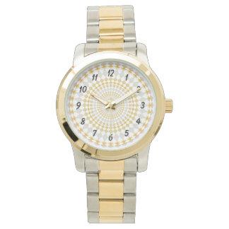 カスタマイズ腕時計2の陰-ダイヤモンドパターン 腕時計