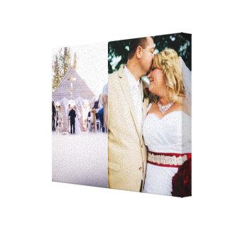 カスタマイズ花嫁及び新郎は写真のキャンバスプリントを加えます キャンバスプリント