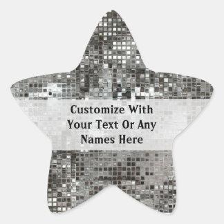 カスタマイズ銀製のスパンコールの星のステッカー 星形シール・ステッカー