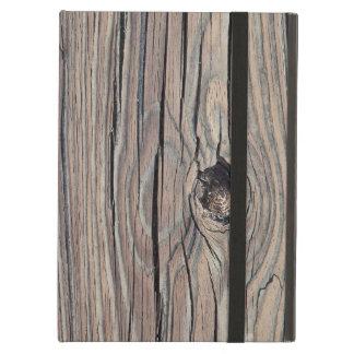 カスタマイズ風化させた木製の背景- iPad AIRケース
