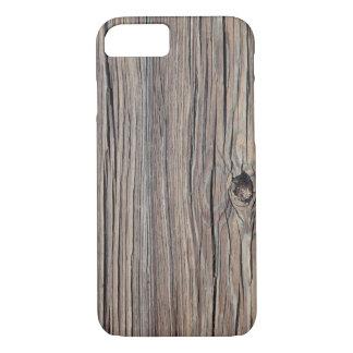 カスタマイズ風化させた木製の背景- iPhone 8/7ケース