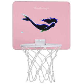 カスタマイズ黒い海底人魚 ミニバスケットボールゴール