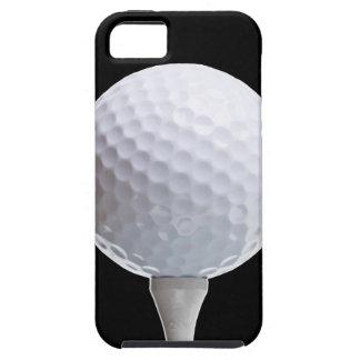 カスタマイズ黒のゴルフ・ボールそしてティー iPhone SE/5/5s ケース