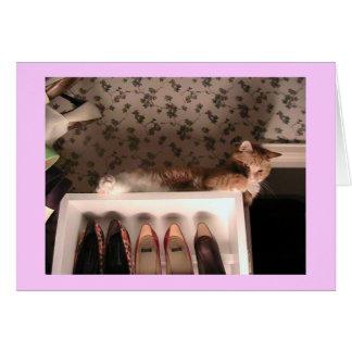 カスタマイズJazzpurrの靴カード- グリーティングカード