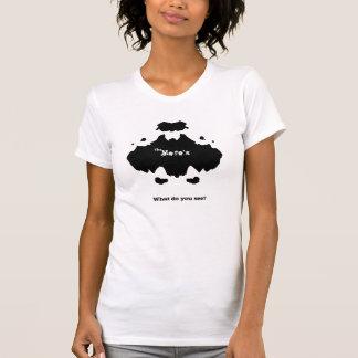 カスタマイズMofoのRorshackテストTシャツ- Tシャツ